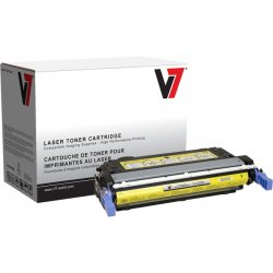 V7 - V73800Y - Yellow Toner Cartridge, Yellow For HP Color LaserJet 3800, 3800N, 3800DN, 380
