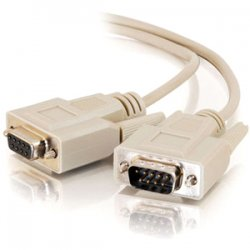 C2G (Cables To Go) - 17612 - C2G 100ft DB9 M/F Extension Cable - Beige - DB-9 Male - DB-9 Female - 100ft - Beige