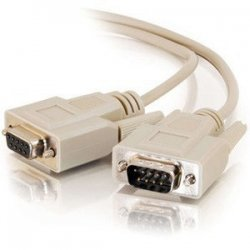 C2G (Cables To Go) - 25201 - C2G 3ft DB9 M/F Extension Cable - Beige - DB-9 Male - DB-9 Female - 3ft - Beige