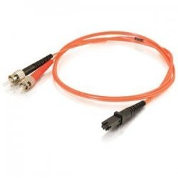 C2G (Cables To Go) - 33140 - C2G-8m MTRJ-ST 62.5/125 OM1 Duplex Multimode PVC Fiber Optic Cable - Orange - Fiber Optic for Network Device - ST Male - MTRJ Male - 62.5/125 - Duplex Multimode - OM1 - 8m - Orange