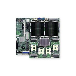 Supermicro - MBD-X7QCE-O - Supermicro X7QCE Server Motherboard - Intel Chipset - Socket PGA-604 - 1 x Retail Pack - 4 x Processor Support - 192 GB DDR2 SDRAM Maximum RAM - 667 MHz Memory Speed Supported - 24 x Memory Slots - Floppy Controller, Serial