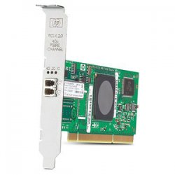 Hewlett Packard (HP) - AB378B - HP Single Channel Fibre Channel Host Bus Adapter - 1 x LC - PCI-X 2.0 - 4Gbps