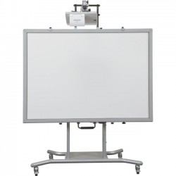 MooreCo - 27641 - Balt Elevation Mobile Stand with Wall Mount - 98 Height x 55.8 Width x 30 Depth - Silver