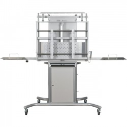 MooreCo - 27675 - Balt iTeach Flat Panel TV Cart - Up to 80 Screen Support - 250 lb Load Capacity - Flat Panel Display Type Supported - 1 x Shelf(ves)37.5 Width - Gray
