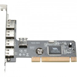 Rosewill - RC-103 - Rosewill 4+1 VIA USB 2.0 PCI Adapter Model RC-103 - PCI - Plug-in Card - 5 USB Port(s) - 5 USB 2.0 Port(s)