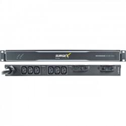 SurgeX - SX-DS-L530-FP - SurgeX Defender SX-DS-L530-FP 6-Outlets PDU - 6 x IEC 60320 C13 - 120 V AC - 1U - Rack Mount