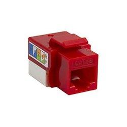 4xem - 4XKJC5ERD - 4XEM Cat5e RJ45 Keystone Jack UTP 110-Type (Red) - Red - 1 x RJ-45 Port(s)
