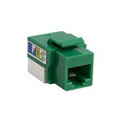 4xem - 4XKJC6GN - 4XEM Cat6 RJ45 Keystone Jack UTP 110-Type (Green) - Green - 1 x RJ-45 Port(s)