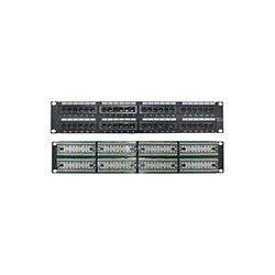 4xem - 4XRMC5EPP48 - 4XEM 48 Port CAT5E Rackmount Patch Panel - Black - Steel - 48 x RJ-45 Port(s)