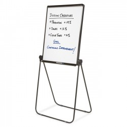 Acco Brands - 101EL - Quartet Ultima Adjustable Economy Easel - 70 Height - Plastic, Steel, Aluminum - Black