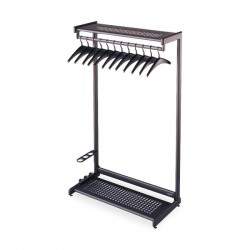 Acco Brands - 20222 - Quartet Two-Shelf Garment Rack, Freestanding, 24, Black, 8 Hangers Included - Contemporary/Modern - 24 Width x 61.5 Height - Black