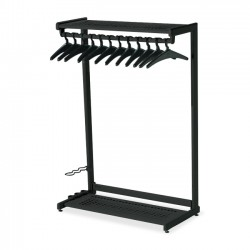 Acco Brands - 20224 - Quartet Two-Shelf Garment Rack, Freestanding, 48, Black, 12 Hangers Included - Contemporary/Modern - 48 Width x 61.5 Height - Black