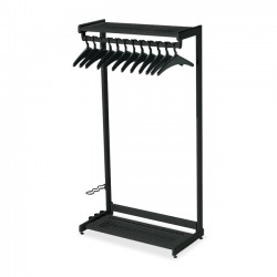 Acco Brands - 20225 - Quartet Two-Shelf Garment Rack, Freestanding, 36, Black, 12 Hangers Included - Contemporary/Modern - 36 Width x 61.5 Height - Black