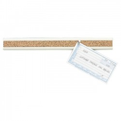 Acco Brands - 2350-1 - Quartet Bulletin Bar II, 18 Length, Natural Cork w/ Black Plastic Frame - Plastic, Cork - Black, Brown