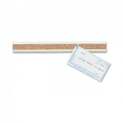 Acco Brands - 2350-2 - Quartet Bulletin Bar II, 18 Length, Natural Cork w/ Putty Plastic Frame - Plastic, Cork - Putty, Brown
