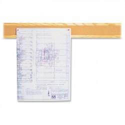 Acco Brands - 300B - Quartet Bulletin Border, Natural Cork Surface, 48 x 5, Oak Finish Frame - 5 Height x 48 Width - Tan Natural Cork Surface - Oak Frame - 1 / Each