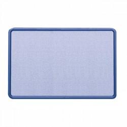 Acco Brands - 7694BE - Quartet Contour Fabric Bulletin Board, 4' x 3', Navy Frame, Blue Fabric - 36 Height x 48 Width - Blue Fabric Surface - Navy Frame - 1 / Each