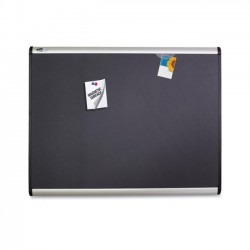 Acco Brands - MB543A - Quartet Prestige Plus Magnetic Fabric Bulletin Board, 3' x 2', Aluminum Frame - 24 Height x 36 Width - Gray Fabric Surface - Silver Aluminum Frame - 1 / Each