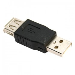 4xem - 4XUSBAFM - 4XEM USB 2.0 Female To Male Adapter - 1 x Type A Female USB - 1 x Type A Male USB - Black
