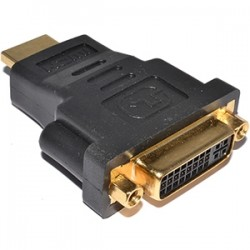4xem - 4XHDMIDVIMFA - 4XEM HDMI Male To DVI-D Female Gold Plated Video Adapter - 1 x HDMI Male Digital Audio/Video - 1 x DVI-D Female Digital Video - Gold Connector