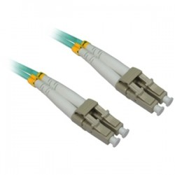 4xem - 4XFIBERLCLC2M - 4XEM 2M AQUA Multimode LC To LC 50/125 Duplex Fiber Optic Patch Cable - Fiber Optic for Network Device - 6.56 ft - 2 x LC Male Network - 2 x LC Male Network - Aqua Blue