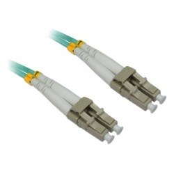4xem - 4XFIBERLCLC8M - 4XEM 8M AQUA Multimode LC To LC 50/125 Duplex Fiber Optic Patch Cable - Fiber Optic for Network Device - 26.25 ft - 2 x LC Male Network - 2 x LC Male Network - Aqua Blue