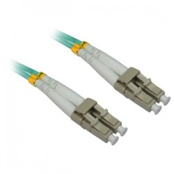 4xem - 4XFIBERLCLC15M - 4XEM 15M AQUA Multimode LC To LC 50/125 Duplex Fiber Optic Patch Cable - Fiber Optic for Network Device - 49.21 ft - 2 x LC Male Network - 2 x LC Male Network - Aqua Blue