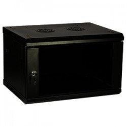 4xem - 4XRACK9U - 4XEM 9U Wall Mount Server Rack Cabinet - 19 9U Wide Wall Mountable - Black - 200 lb x Static/Stationary Weight Capacity