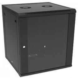 4xem - 4XRACK12U - 4XEM 12U Wall Mount Server Rack Cabinet - 12U Wide Wall Mountable - Black - 200 lb x Maximum Weight Capacity