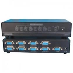4xem - 4XVGASP3508 - 4XEM 8-Port VGA Splitter 350 MHz - 350 MHz