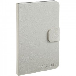 Verbatim / Smartdisk - 98082 - Verbatim Folio Case for Kindle Fire - Pearl White - Folio - Slate Silver