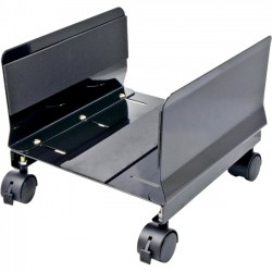 SYBA Multimedia - SY-ACC65063 - SYBA Multimedia All Metal, Heavy Duty CPU Stand/Roller, Tall Walls, Castors, Black Color - 9.8 Width - Metal - Black