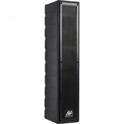 AmpliVox - S1234 - AmpliVox Line Array S1234 30 W RMS Speaker - Silver Gray, Black, Gray - 400 Hz to 12 kHz - 4 Ohm - Wall Mountable