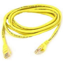Belkin / Linksys - A3L980-06-YLW-S - Belkin - Patch cable - RJ-45 (M) to RJ-45 (M) - 6 ft - UTP - CAT 6 - molded, snagless - yellow - B2B - for Omniview SMB 1x16, SMB 1x8, OmniView SMB CAT5 KVM Switch