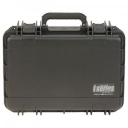 "SKB Cases - 3I-1611-6B-C - SKB 3I Series Mil-Std Injection Molded Case - Internal Dimensions: 16.87"" Width x 11.18"" Depth x 6"" Height - Latching Closure - Polypropylene - Black - For Audio Equipment"