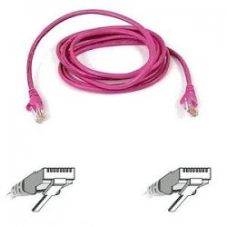 Belkin / Linksys - A3L791-03-PNK-S - Belkin Cat. 5E UTP Patch Cable - RJ-45 Male - RJ-45 Male - 3ft - Pink