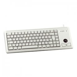 Cherry - G84-4420LPBEU-0 - Cherry Ultraslim G84-4420 Keyboard - Cable Connectivity - PS/2 Interface - 83 KeyTrackball - Built-in Mouse - Light Gray