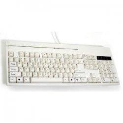 Unitech Electronics - KP3700-T2PWE - Unitech KP3700-T2PWE Programmable POS Keyboards - PS/2 - 104 Keys - White