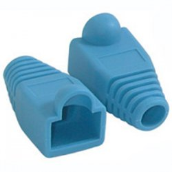 C2G (Cables To Go) - 04757 - C2G RJ45 Snagless Boot Cover (6.0mm OD) - Blue - 50pk - Cable Boot - Blue - 50 Pack