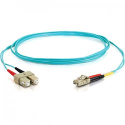 C2G (Cables To Go) - 36527 - C2G-3m LC-SC 10Gb 50/125 OM3 Duplex Multimode PVC Fiber Optic Cable (LSZH) - Aqua - Fiber Optic for Network Device - LC Male - SC Male - 10Gb - 50/125 - Duplex Multimode - OM3 - 10GBase-SR, 10GBase-LRM - LSZH - 3m - Aqua""