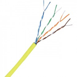 Comprehensive Cable & Connectivity - C5E350YLW-1000 - Comprehensive Cat 5e 350MHz Solid Yellow Bulk Cable 1000ft - Category 5e for Network Device - 1000 ft - Bare Wire - Bare Wire - Yellow