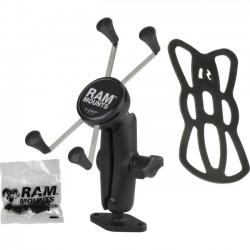 RAM Mounting Systems - RAM-B-102-UN10U - 1 Ball Mount with Diamond Base & Universal X-Grip Large Phone/Phablet Cradle