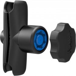 RAM Mounting Systems - RAM-B-201-SU - Double Socket Arm with Pin-Lock Security Knob and Key Knob for 1 Balls