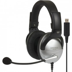 Koss - 178203 - Koss SB45 USB Communication Headsets - Stereo - USB - Wired - 100 Ohm - 18 Hz - 20 kHz - Over-the-head - Binaural - Circumaural - 8 ft Cable - Noise Reduction Microphone
