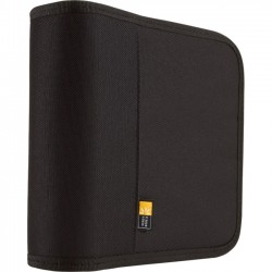 Case Logic - BNW-24BLACK - Case Logic 24 Capacity Nylon CD / DVD Wallet - Wallet - Nylon - Black - 24 CD/DVD