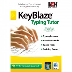 NCH Software - RET-KB001 - NCH Software KeyBlaze with FastFox Text Expansion Software - Typing Tutor - PC, Mac