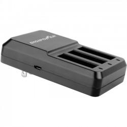 DigiPower - RF-300GP4 - DigiPower Re-fuel RF-300GP4 Triple Battery Charger for GoPro Hero4 - 120 V AC, 230 V AC, 5 V DC Input - 4.4 V DC Output - Input connectors: USB - AC Plug - 3