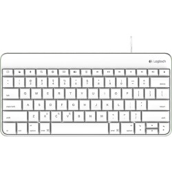 Logitech - 920-005843 - Logitech Wired Keyboard for iPad - Cable Connectivity - Proprietary Interface - Compatible with Tablet - QWERTY Keys Layout - Scissors - White