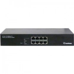GeoVision - GV-POE0800 - GeoVision GV-POE0800 8-Port 802.3at PoE Switch - 2 Layer Supported - Rack-mountable, Under Table, Desktop