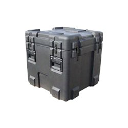 "SKB Cases - 3R2424-24B-E - SKB 3R Roto Molded Waterproof Case - Internal Dimensions: 24"" Width x 24"" Depth x 24"" Height - 59.84 gal - Latching Closure - Polyethylene - Black - For Military"